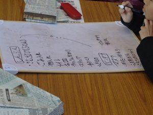 新聞紙やバンダナの役目