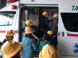 救急車の中を見学