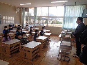 修了式(各教室で)