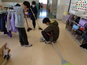 6年生とクリーン作戦